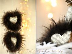 Love it!  ♥ Tante Malis Gartenblog: Von Wohlfühlwolken und Fellherzen
