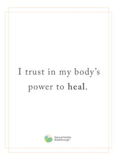 I trust in my body's power to heal // Fertility affirmations, infertility in. I trust in my body's power to heal // Fertility affirmations, infertility inspiration, TTC quotes Healing Affirmations, Affirmations Positives, Daily Affirmations, Body Quotes, Me Quotes, Irish Quotes, Heart Quotes, Vie Positive, Positive Quotes