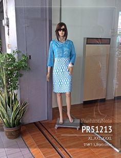 PR51213 Lace Top Dress (Blue)