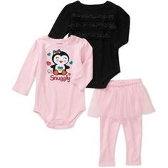 There are several color/pattern choices Garanimals Newborn Girls' 3 Piece Creepers and Ruffle Pant Set