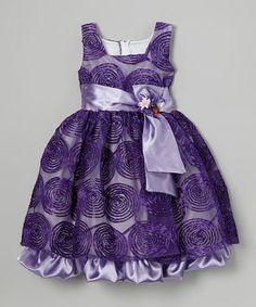Another great find on #zulily! Purple Swirl Babydoll Dress - Infant, Toddler & Girls #zulilyfinds