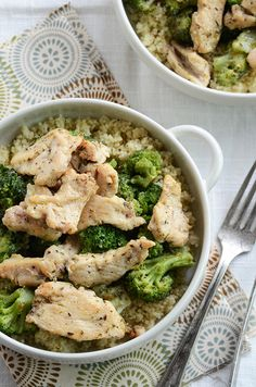 Couscous and chicken with broccoli quick healthy dinner