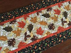 Fall Quilted Table Runner Autumn Table Runner Quilt Quilted
