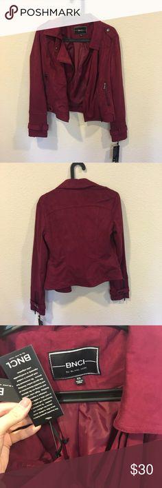 WNT BNCI by Blanc Noir maroon jacket NWT stylish maroon jacket! From the Miller Affect blog. No trades. BNCI by Blanc Noir Jackets & Coats