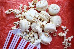Floral Frosting: Salted Caramel Popcorn Macarons