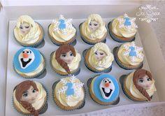 Frozen Elsa, Anna & Olaf cupcakes