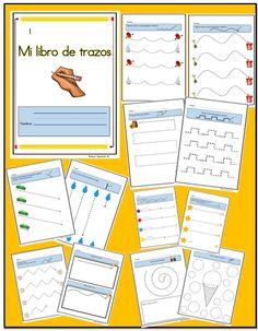 Mi libro de trazos presenta una serie de ejercicios que le permiten a los estudiantes de primaria iniciarse en la ejecución de los trazos básicos y de mayor relevancia. http://www.teacherspayteachers.com/Product/Trazar-lineas-ejercicios-de-escritura-1092912