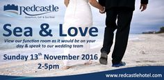 Come along to our Sea & Love event on Sunday November and view our stunning Ocean Suite set up for a wedding and speak to our wedding team about your special day. Function Room, Hotel Spa, Special Day, Real Weddings, Our Wedding, November, Sunday, Ocean, Love