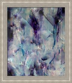 """""""Transformation"""" by Wayne Cantrell, shown with our Hanaqua 2 Cool Silver frame in the medium size.  Make your walls pop with more bold prints on www.imagekind.com!"""