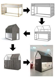 6 Ways to Customize the Ikea Kura Bed - Petit & Small