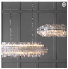 Vienna Round Crystal Chandelier, Polished Nickel - for William Sonoma Round Crystal Chandelier, Luxury Chandelier, Linear Chandelier, Diy Chandelier, Luxury Lighting, Rectangular Chandelier, Crystal Pendant Lighting, Home Lighting Design, Art Deco Lighting