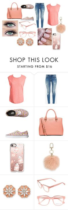 """""""Peach With Coral"""" by pcgcooper-1 on Polyvore featuring Sans Souci, Ted Baker, Vans, MICHAEL Michael Kors, Casetify, Tory Burch, BillyTheTree and Derek Lam"""