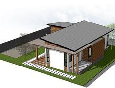 Sims House Plans, New House Plans, Modern House Plans, Small House Plans, Modern Bungalow House Design, Simple House Design, U Shaped House Plans, Two Bedroom House, Loft House