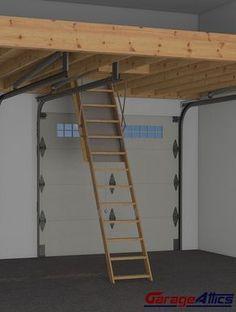 garage storage loft - perfect for stacking lumber