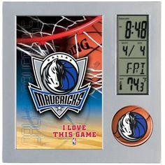 WinCraft Dallas Mavericks Digital Desk Clock