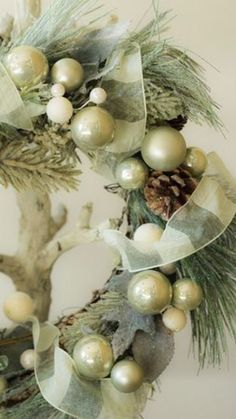 Mint Green Christmas Wreath