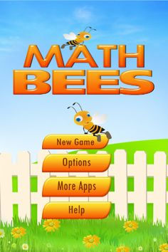 Math Bees - This app poses problems in addition, subtraction, multiplication and division. You have to then solve the problem and seek out the solution among the bees that are always on the move.