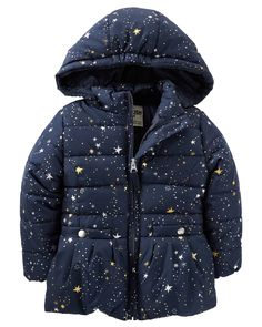 Toddler Girl OshKosh Star Print Heavyweight Fleece-Lined Jacket from OshKosh B'gosh. Shop clothing & accessories from a trusted name in kids, toddlers, and baby clothes.