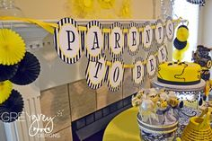 """Photo 11 of 17: Bumble Bee Baby Shower / Baby Shower/Sip & See """"Parents To Bee Baby Shower"""" 