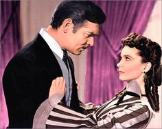GONE WITH THE WiND -- fun still shot because this scene in these costumes is not in the final film