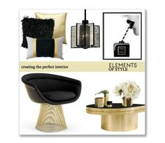 """""""Elements Of Style"""" by leanne-mcclean ❤ liked on Polyvore featuring Chanel, Knoll, Pillow Decor, Kathy Ireland, Minimal, Paper Whites and Dot & Bo"""