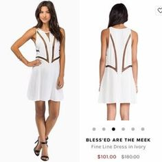 I just discovered this while shopping on Poshmark: BLESS'ED ARE THE MEEK FINE LINES DRESS IN WHITE. Check it out!  Size: S