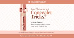 Win a Nude Wear Touch of Blur Product from Physicians Formula! (500 Winners)