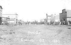 Edmond, Oklahoma Territory, First Street