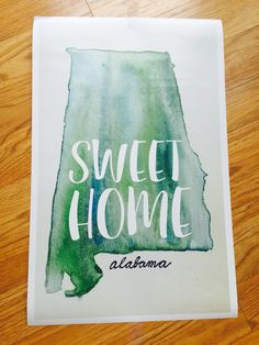 """   s w e e t h o m e a l a b a m a     This sweet poster is FINALLY available in the shop!! Perfect size for your dorm room, home, or to give away as a graduation, wedding, or thinking of you gift!   Size: 11""""x20"""" Cost: $20.00 INCLUDING shipping!!   ONLY ONE print left that is smaller than this size! Comment for details on that one!   DIRECT LINK: https://www.etsy.com/listing/246323637/sweet-home-alabama-print"""