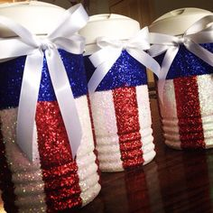 Red White and Blue glitter cooler 1/2 gallon on Etsy, $30.00
