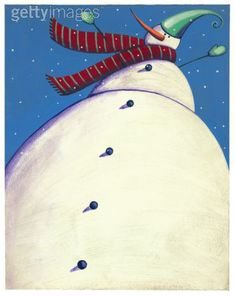 For 3rd o 4th grade - perspective. A snowman with an exaggerated point of view.