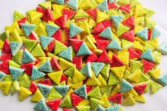 Mosaic Tiles-1 Inch 75 pieces-embossed triangles by mosaicmonkey