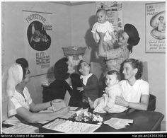 Culture Victoria - Mothers and babies at the Drouin Infant Welfare Centre, Victoria 1944