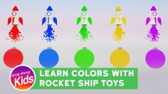 Learn Color with Rocket Ship Toys for kids children and toddlers funny video | dingdong kids