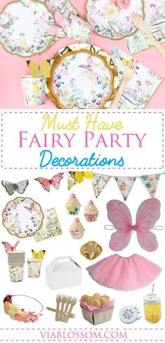 You will love our magical Fairy Party Ideas and Decorations!! All the Fairy Party Decorations for a whimsical girl birthday party!!