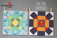 Rolling Diamonds tutorial by knottygnome, via Flickr