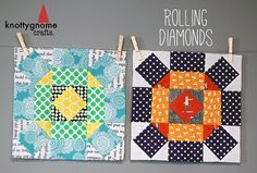 Rolling Diamonds Block Tutorial by knottygnome