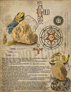 Gold Gold, Book of Shadows printable page. Wiccan Spells, Magick, Witchcraft, Magic Herbs, Herbal Magic, Crystals And Gemstones, Stones And Crystals, Chakra Symbole, Grimoire Book