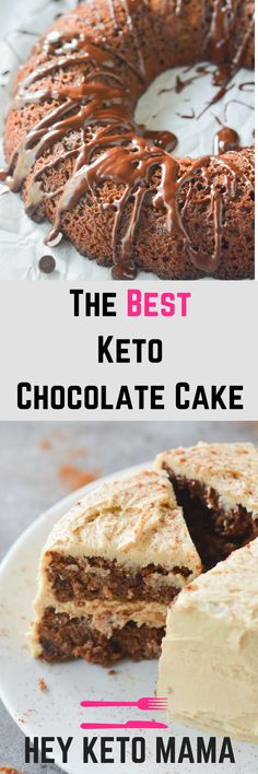 This Keto Chocolate Cake is delicious, moist, and very low carb. It's perfect for any celebration or even weeknight dessert!   heyketomama.com