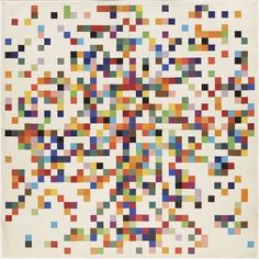 Ellsworth Kelly (American, born 1923) Spectrum Colors Arranged by Chance II 1951 Cut-and-pasted color-coated paper and pencil on four sheets of paper