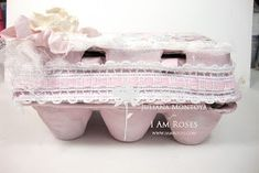 So I am getting ready to make some Easter gifts and thought I could recycle regular egg boxes and create some Shabby. Egg Boxes, Altered Boxes, Happy Wednesday, Easter Gift, Easter Eggs, Recycling, Decorative Boxes, Shabby Chic, Create