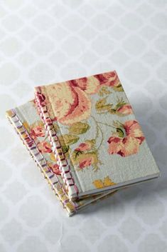 Learn Japanese Binding - We made these lovely books by using Japanese stab-stitch binding.