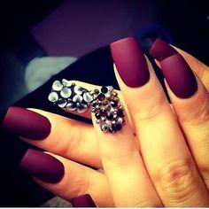 diamonds, purple colour, nails, classy, bordeaux, nail polish, nail art