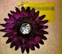dia de la morte purple flower hair clip