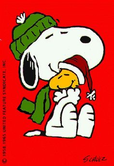 """Snoopy at Christmas always brings back my childhood memories! Loved Snoopy and the Red Baron as well! """"Merry Christmas My Friend"""" Merry Christmas, Peanuts Christmas, Charlie Brown Christmas, Charlie Brown And Snoopy, Christmas Time, Xmas, Christmas Clipart, Christmas Pictures, Snoopy Feliz"""