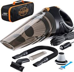 Portable Car Vacuum Cleaner. The ergonomic design of this hand vacuum ensures you can reach all the nooks and crannies of your car. The transparent trash container makes it easy to empty it and the protective lid keeps the trash inside at all times. Car Vacuum Cleaner... Portable Vacuum Cleaner, Handheld Vacuum, Vacuum Cleaners, Hand Vacuum, Best Vacuum, Stocking Stuffers For Men, Automobile, Clean Your Car, Cleanser