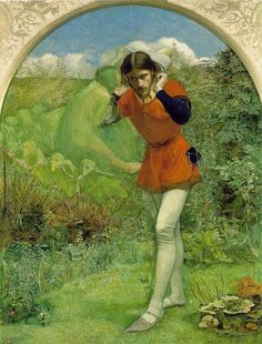 Ferdinand Lured by Ariel by John Everett Millais, an original member of the Pre-Raphaelite Brotherhood    Myth and Moor blog... explores the delicate line between Inspiration and Madness