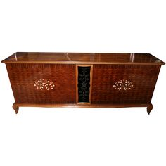 French Art Deco Palisander Marquetry,  M-O-P Buffet/ Leleu Style