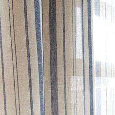 ΛΙΝΗ ΚΟΥΡΤΙΝΑ ΜΕ ΡΙΓΕΣ - Κουρτίνες - Κρεβατι | Zara Home Ελλάδα Long Curtains, Zara Home, Striped Linen, Beach House Decor, Greece, Linen Curtain, Room Decor, United Kingdom