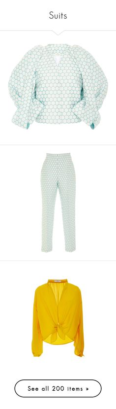 """""""Suits"""" by bliznec-anna ❤ liked on Polyvore featuring outerwear, jackets, white, collarless jacket, bow jacket, white jacket, white collarless jacket, delpozo, pants and high waisted cigarette trousers"""